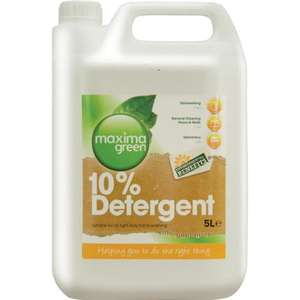 C71/5 - Maxima Green 10% Dishwash Detergent Washing Up Liquid - 5Litre - C71/5 **