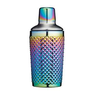 BCCSSTUDRBOW - BarCraft Rainbow Studded Glass Boston Cocktail Shaker, 400ml - BCCSSTUDRBOW