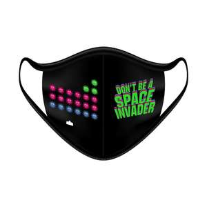 Cloth Face Mask Space Invaders - Pack of 5 - FACEMASKSPACEINVADER