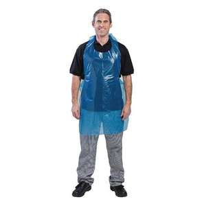 DW308 - Disposable Polythene Aprons 8.5 Micron Blue - Pack of 100 - DW308
