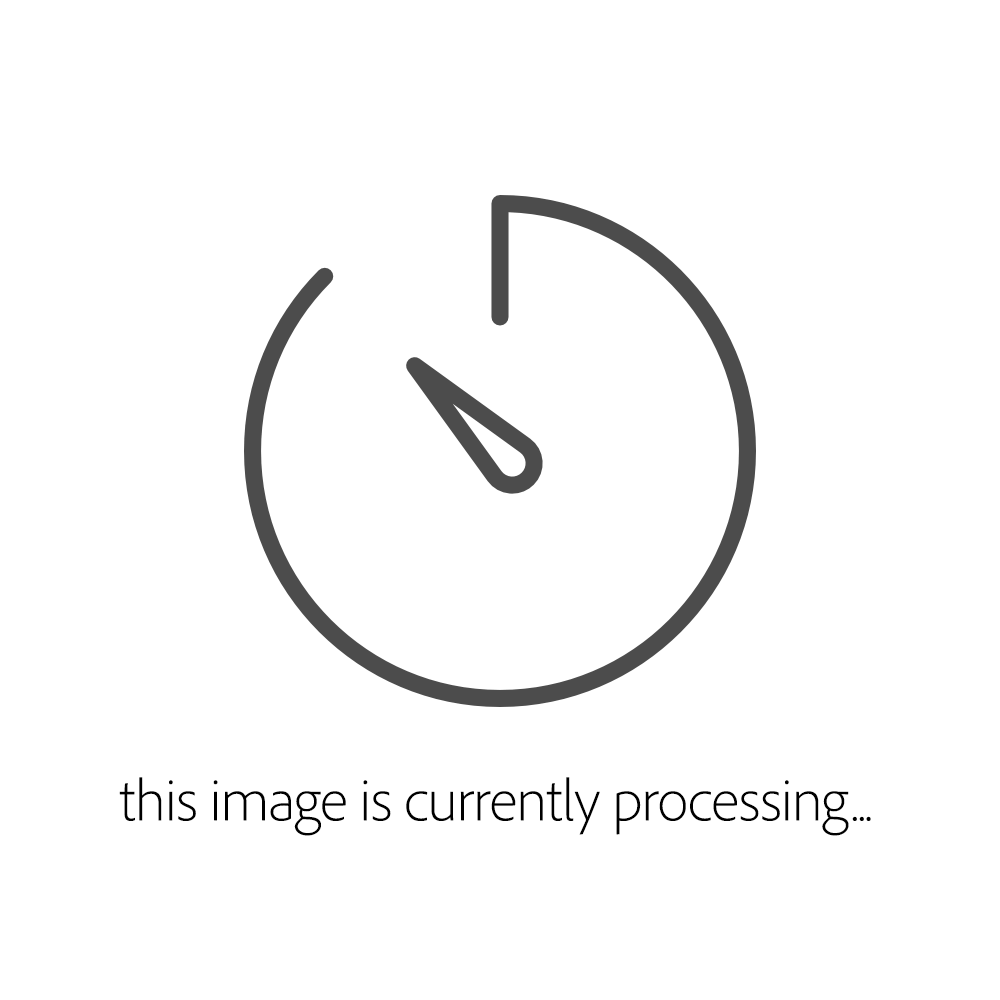 DP141 - Curved Square Melamine Plate White 400mm - Each - DP141