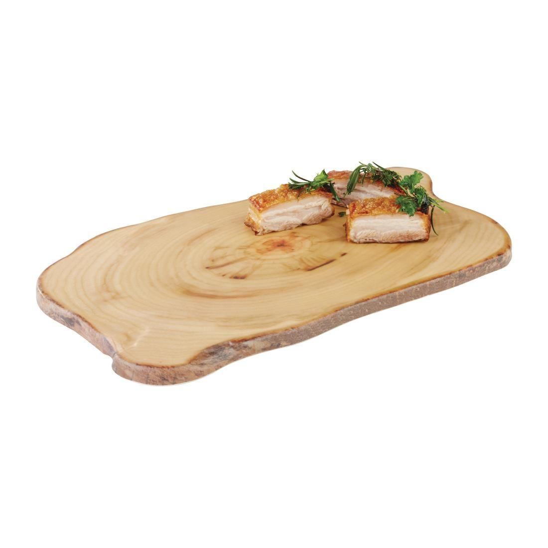 CS098 - APS Timber Rectangular Melamine Platter 440 x 250mm - Each - CS098