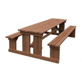 DM981 - Z-DISCONTINUED Bolero Walk in Picnic Bench Rustic Brown 4ft - Case of 1 - DM981