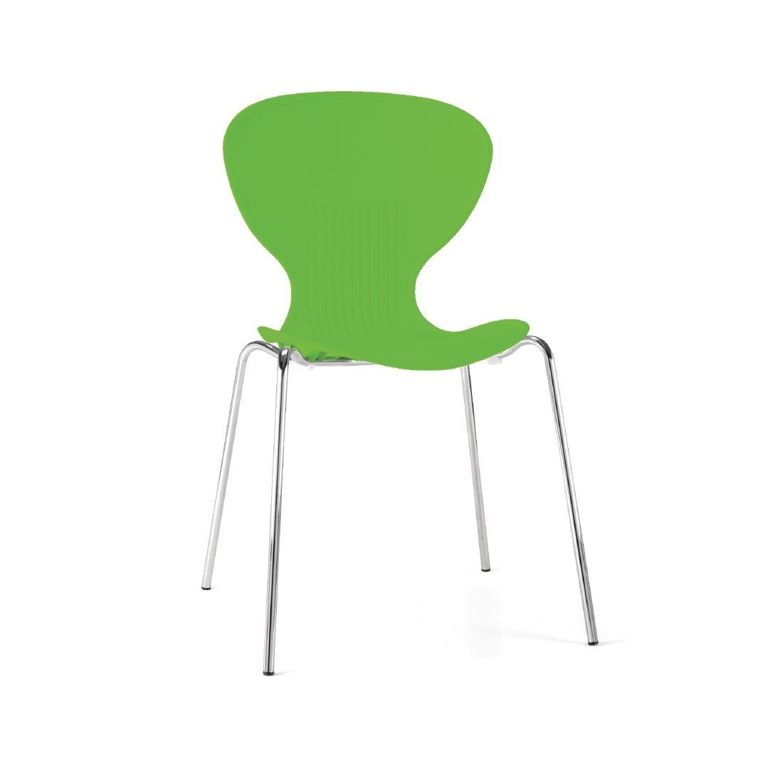 GP503 - Bolero Lime Stacking Plastic Side Chairs - Case of 4 - GP503