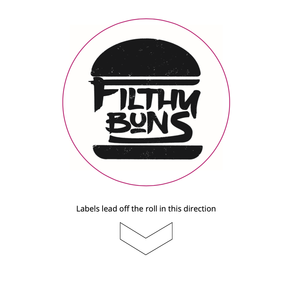 FILTHY-STICKERS - Filthy Buns Stickers - 60mm Custom Branded Stickers - FILTHY-STICKERS