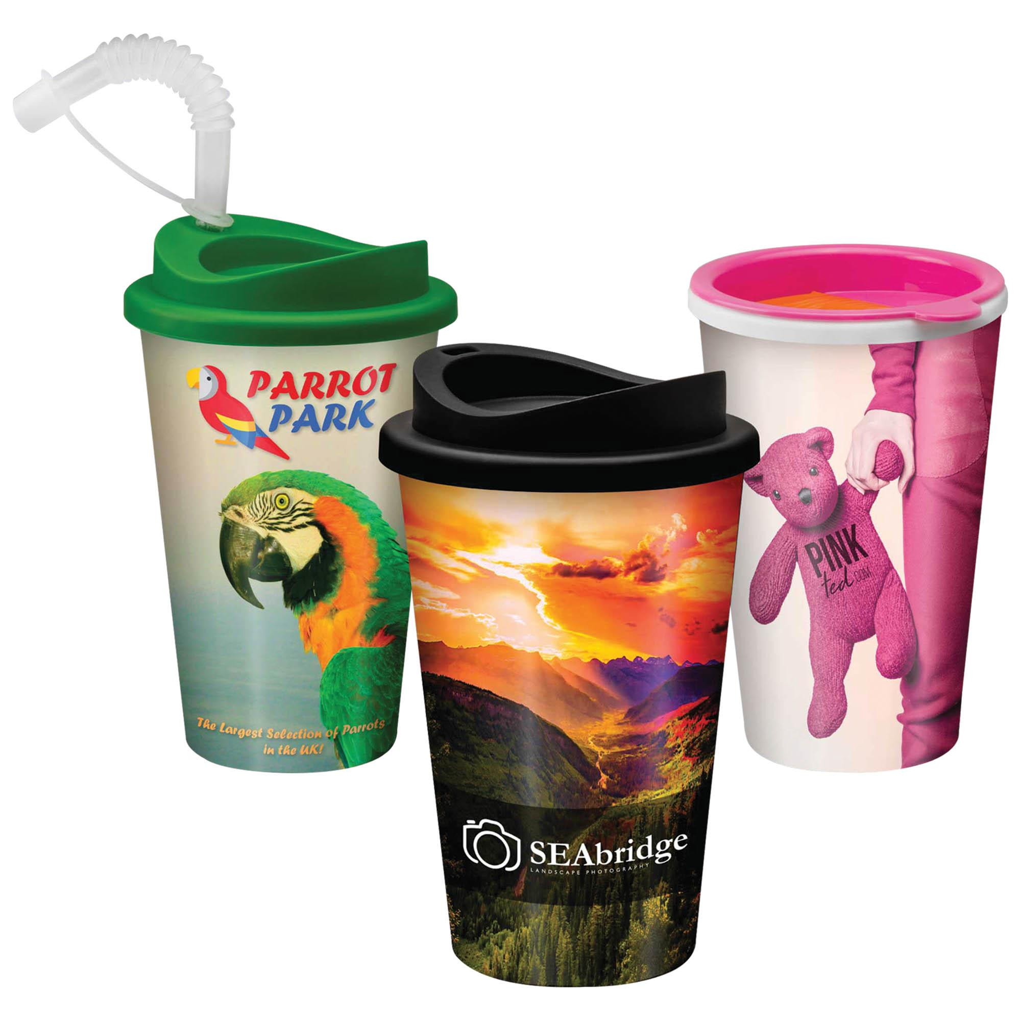 CUSTOM-TRAVELCUPLGE - Deposit Return Scheme Reusable Travel Cup 12oz/320ml - CUSTOM-TRAVELCUPLGE