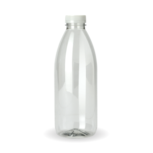 PET1000&CAP - BioPak 1000ml PET Bottle - Boxed with cap  - Case of 85 - PET1000&CAP