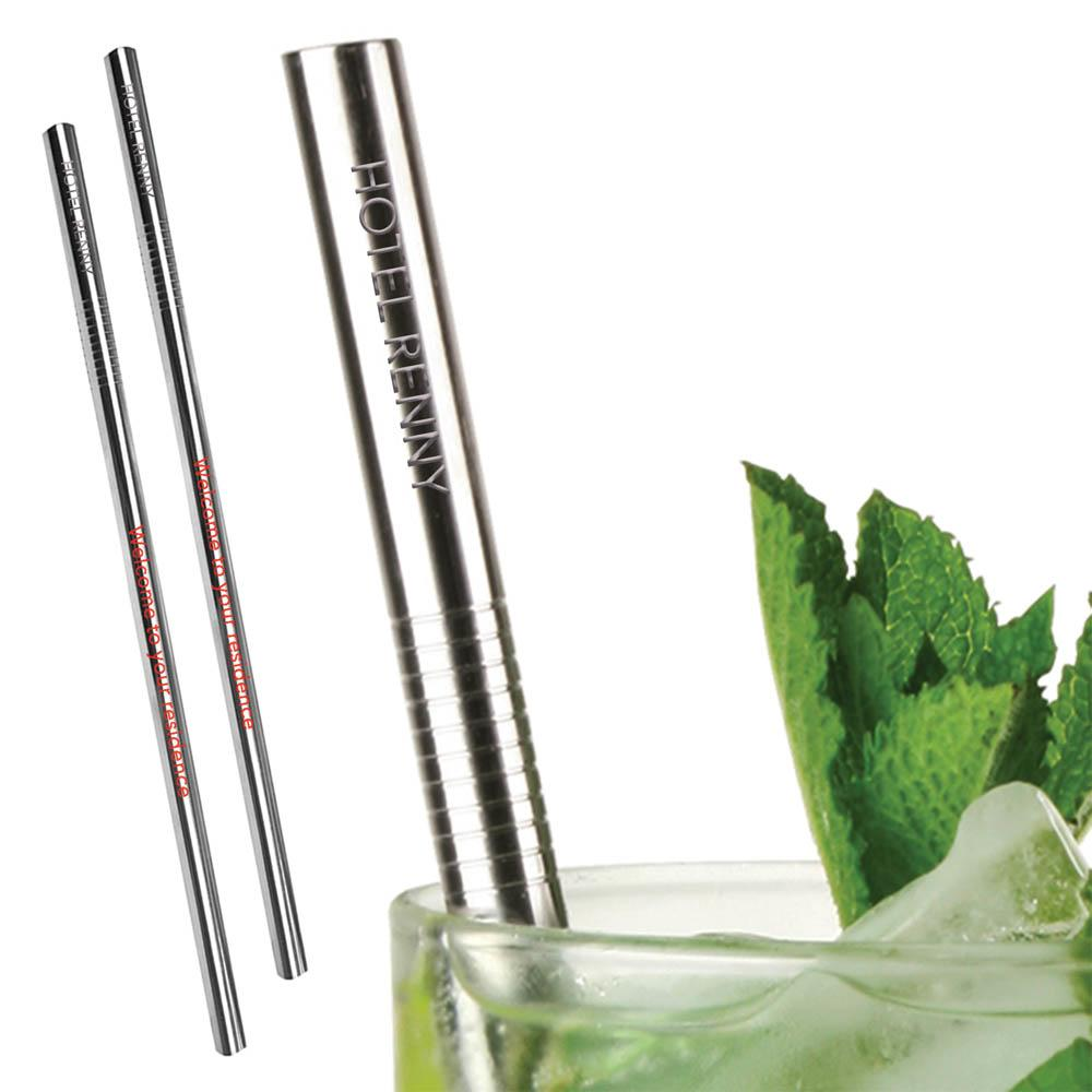 Stainless Steel Straws - Printed or Engraved