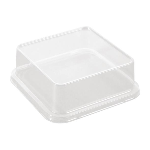 FC773 - Solia PLA Lid for Sushi Tray FC778 103x103mm Compostable - Pack of 50 - FC773