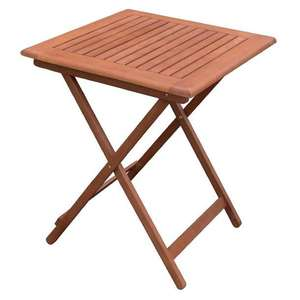 GR399 - Bolero 600mm Square Wooden Folding Table - Case of 1 - GR399