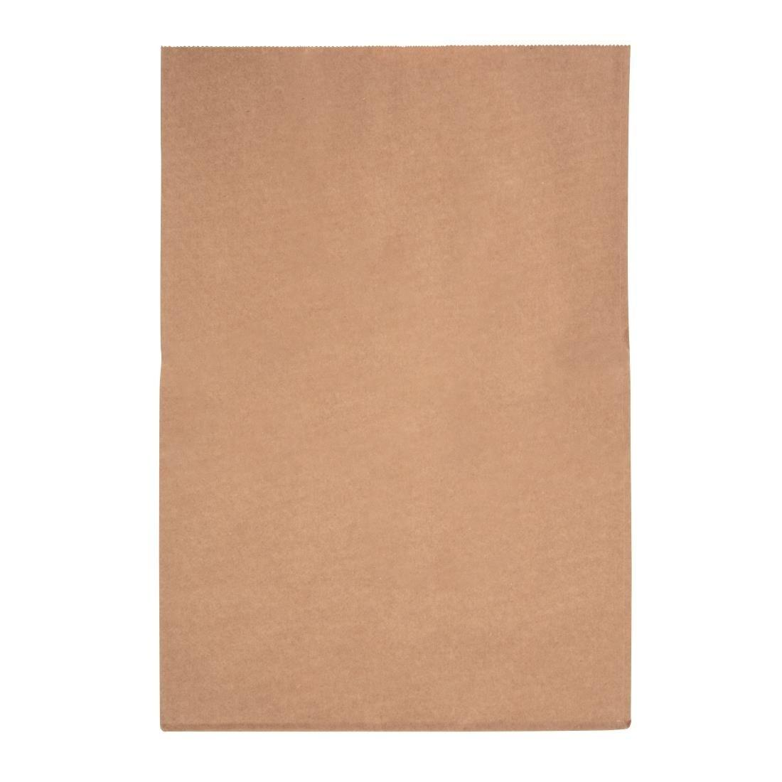 "Fiesta Green Biodegradable Kraft Grab Bags 431 x 304mm 17"" x 12"" Compostable Recyclable - Pack of 500 - FC875"