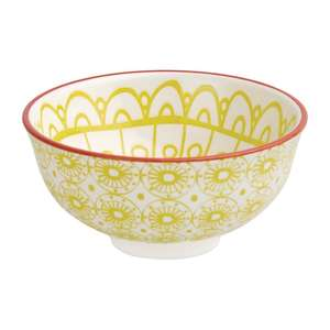 DR775 - Z-DISCONTINUED Olympia Fresca Small Bowls Yellow 120mm - Case  - DR775