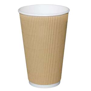GF021 - Kraft Ripple Wall 8oz Recyclable Hot Cups Olympia - Case 40  - GF021