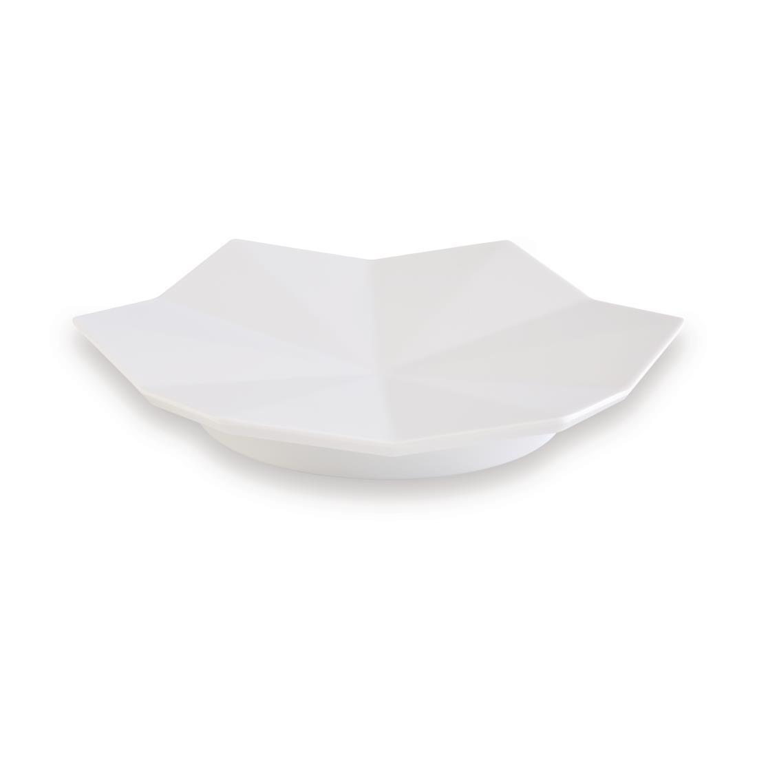 DT781 - APS+ Medium Lotus Leaf Plate White 175mm - Each - DT781