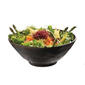 GK842 - APS Marone Melamine Bowl Black 140mm - Each - GK842