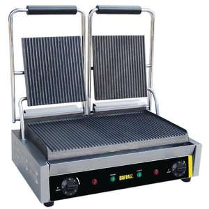 Buffalo Bistro Contact Grill Double Ribbed - DM902