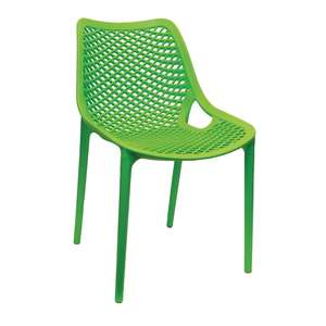 DE336 - Bolero Green PP Mesh Side Chair - Case of 4 - DE336