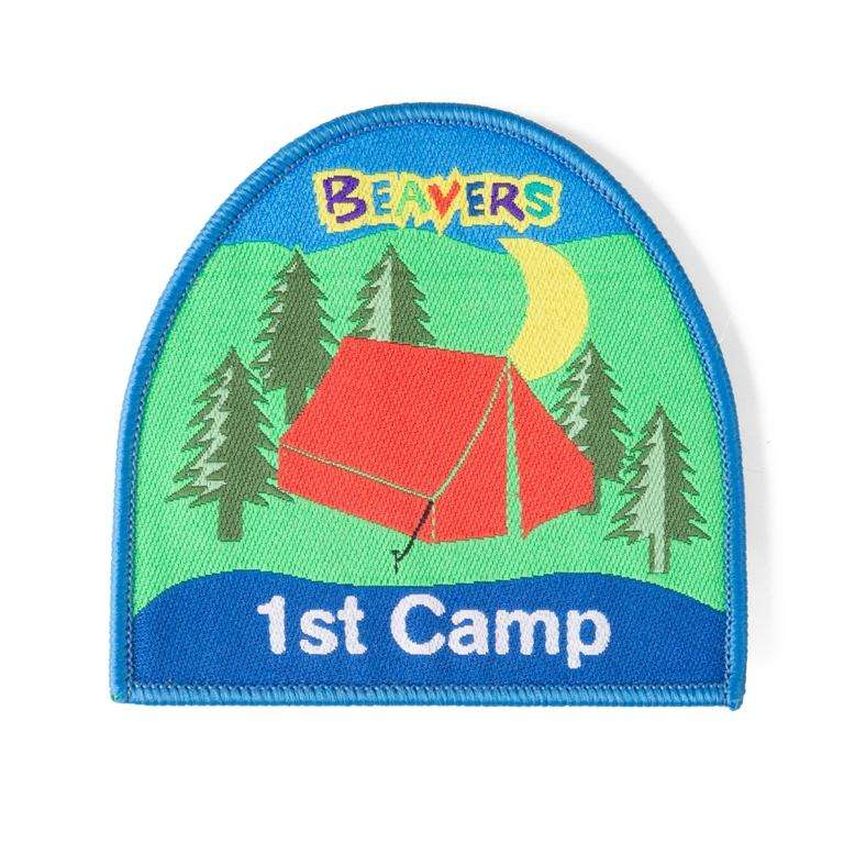 1st Camp Woven Badge Beaver Scouts