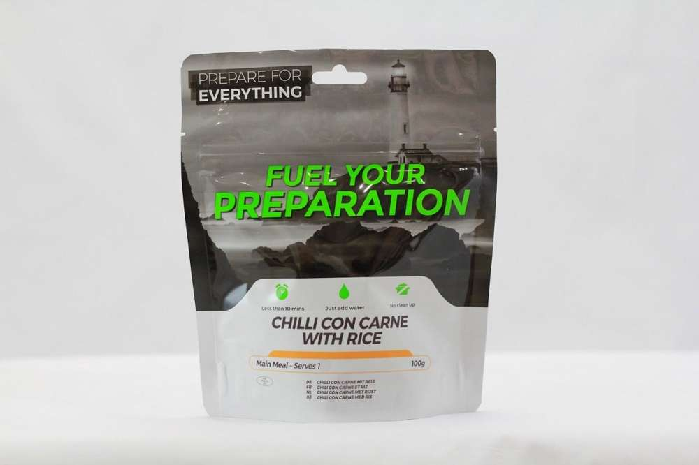 Fuel Your Preparation chilli con carne camping outdoor meal
