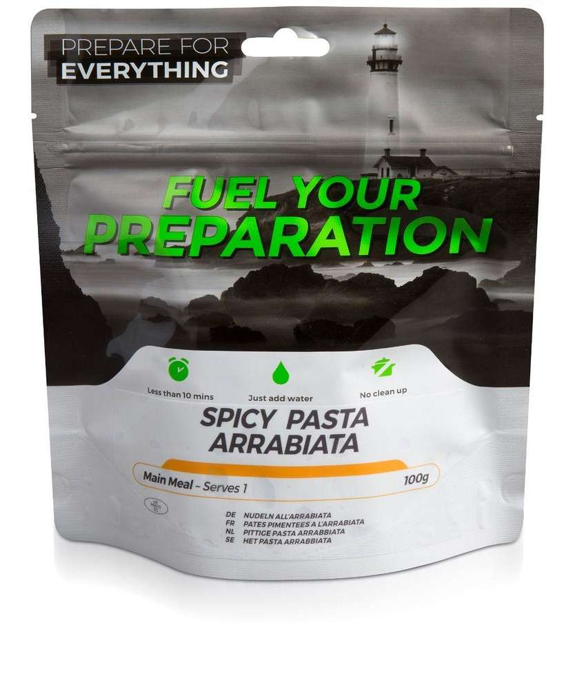 Fuel Your Preparation spicy pasta arrabiata camping outdoor meal
