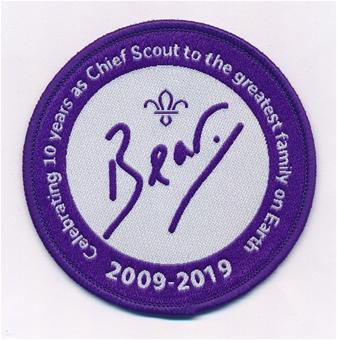 Bear Grylls 10th Anniversary Badge
