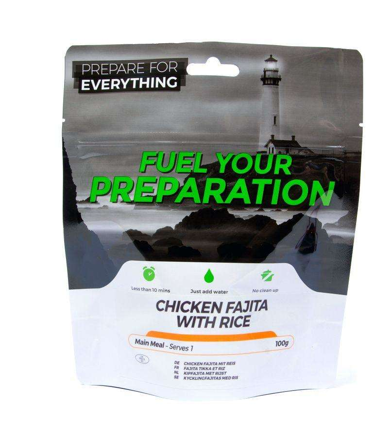 Fuel Your Preparation chicken fajita & rice camping outdoor meal