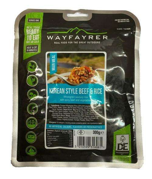 wayfayrer korean style beef & rice army mre camping food