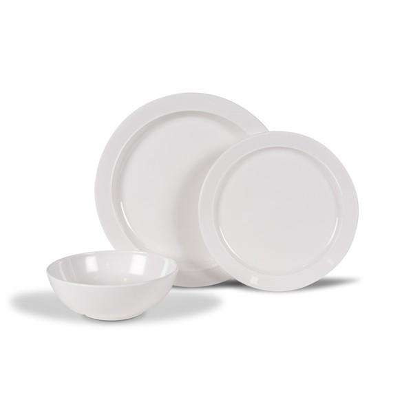 Kampa Classic White Dinner set 12 pieces