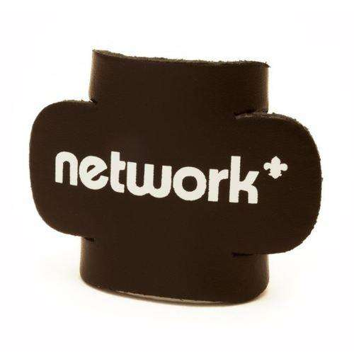 black leather network woggle