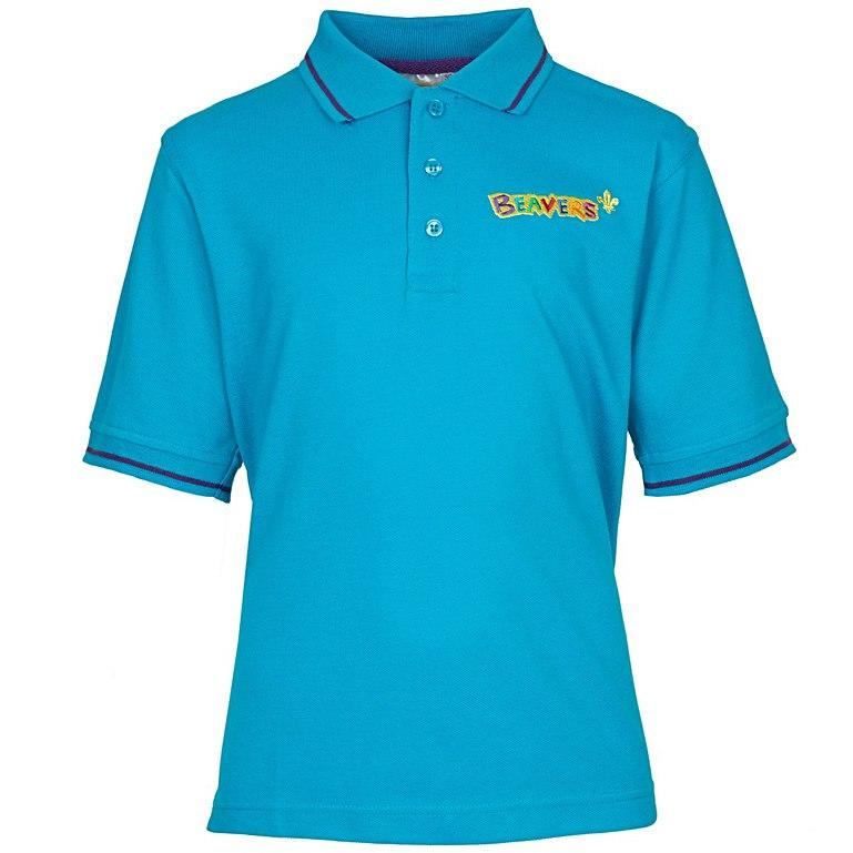 Beaver Scouts Official Uniform Polo Shirt Blue Key Element