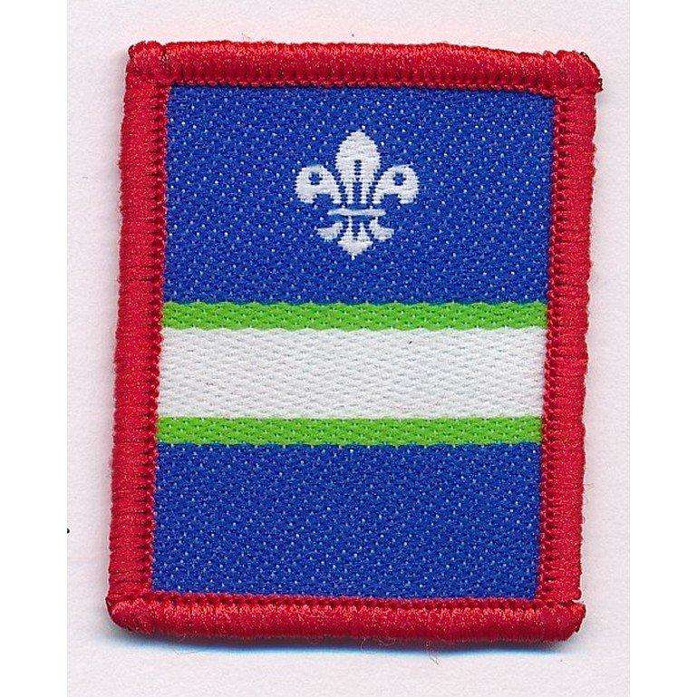 White patrol scout badge