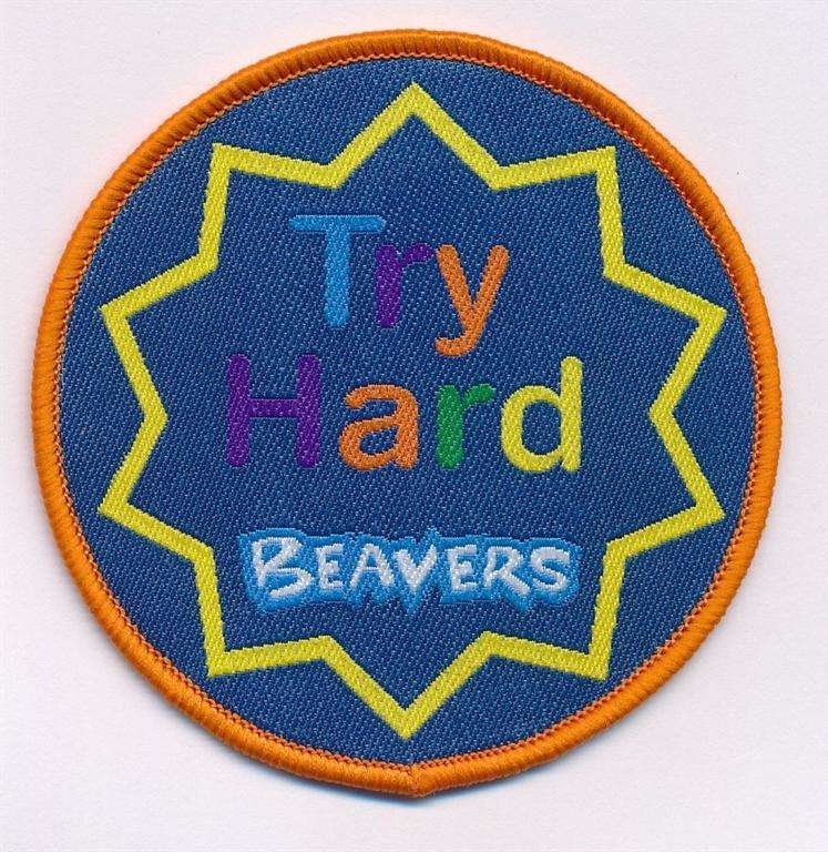 Try Hard Badge Beaver Scouts
