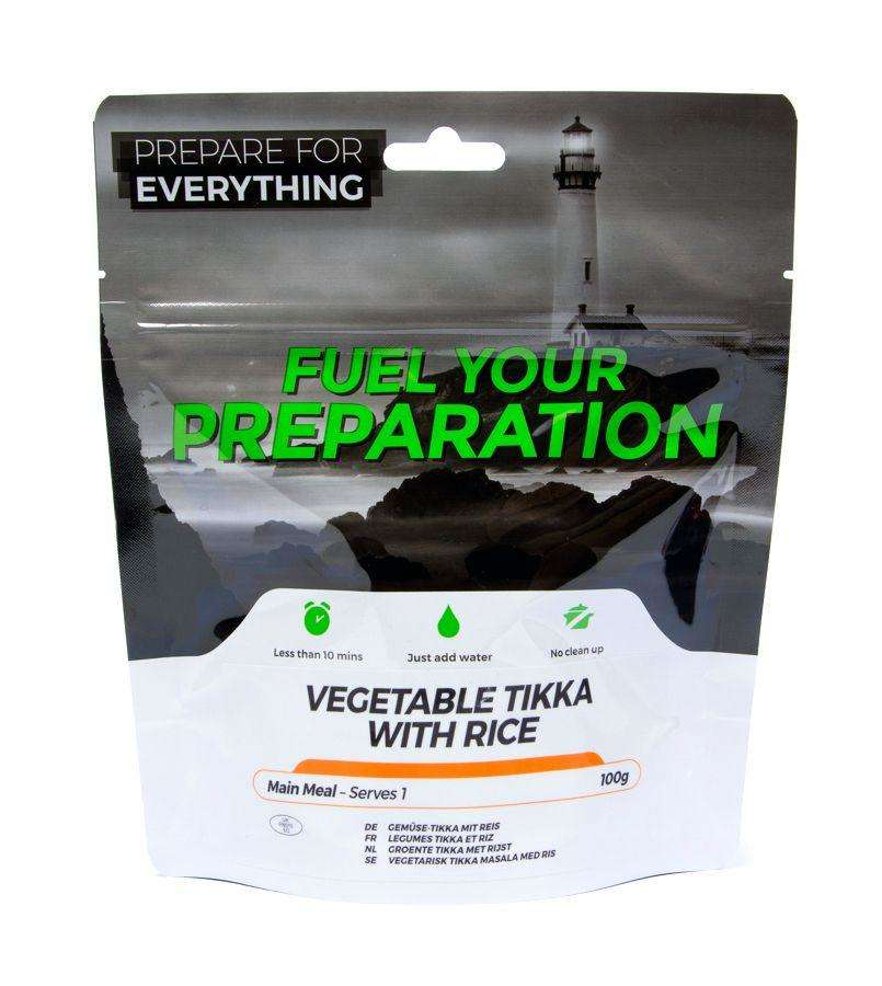 Fuel Your Preparation vegetable tikka & rice camping outdoor meal