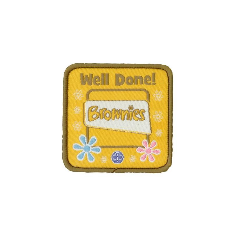 Brownie Well Done Woven Badge - Girl Guiding