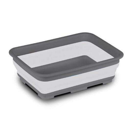 Kampa rectangular collapsible bowl grey camping