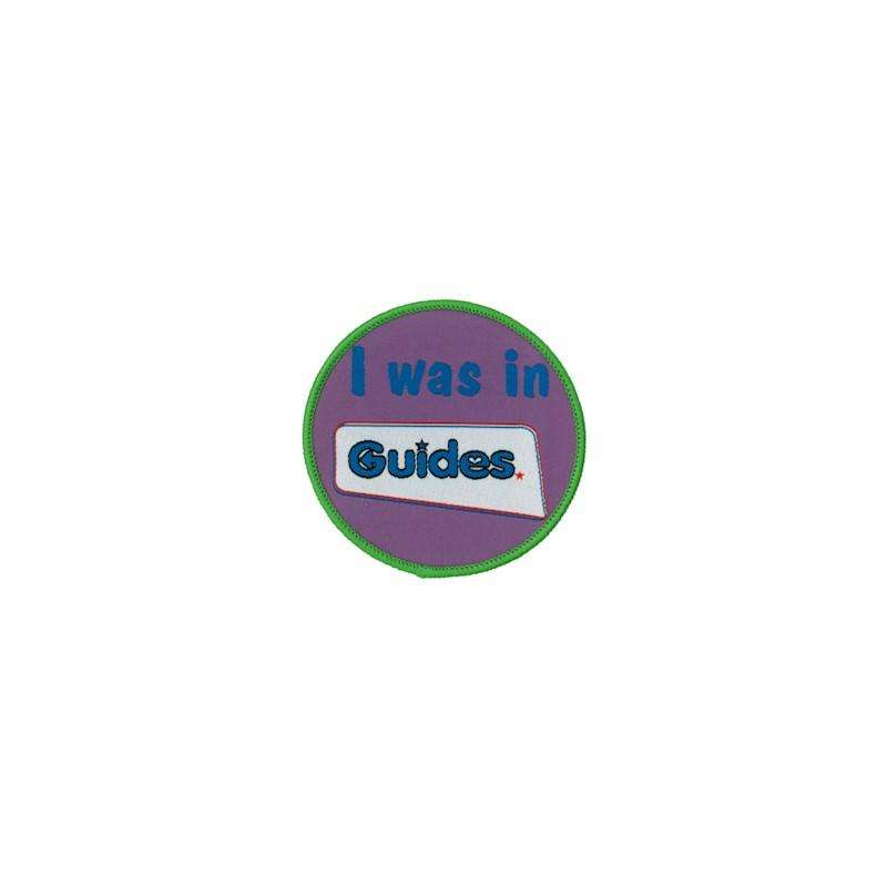 I Was in Guides Fun Woven Badge - Girl Guiding