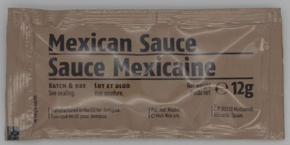 Mexican Sauce Ration Pack Extras Army