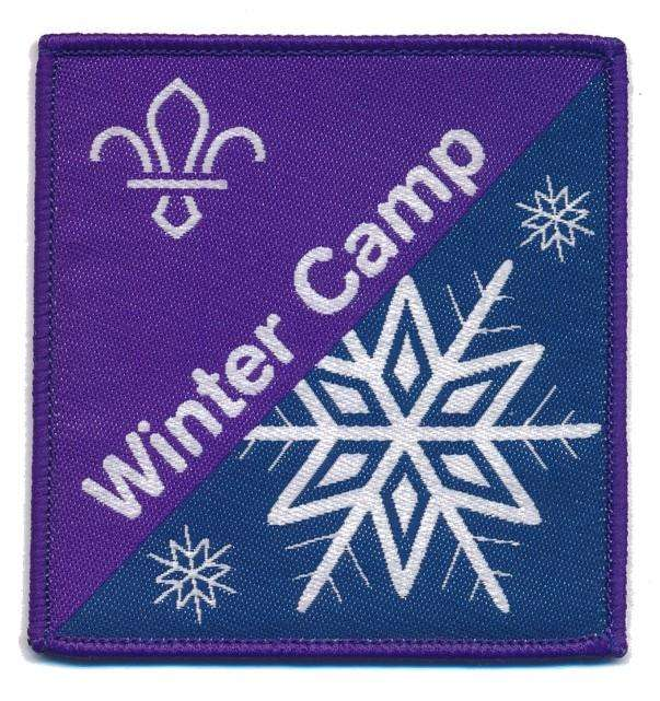 Winter Camp Fun Badge Woven