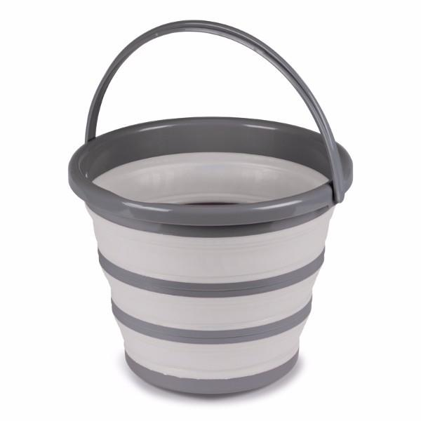 Kampa Collapsible Grey Bucket 10 ltr