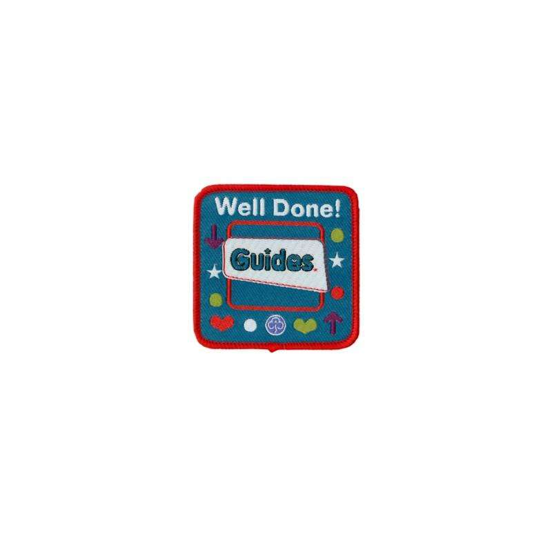 Guide Woven Badge Well Done - Girl Guiding