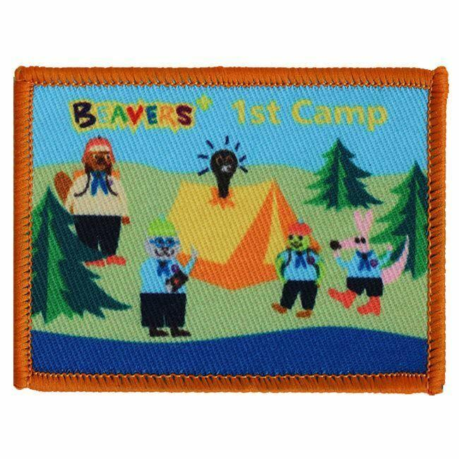 1st Camp Badge Woven Beaver Scout (Rectangle)