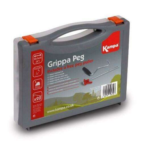 20 Grippa Tent Pegs & Carry Case Kampa