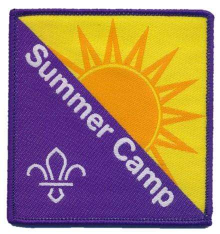 Summer Camp Fun Badge Woven