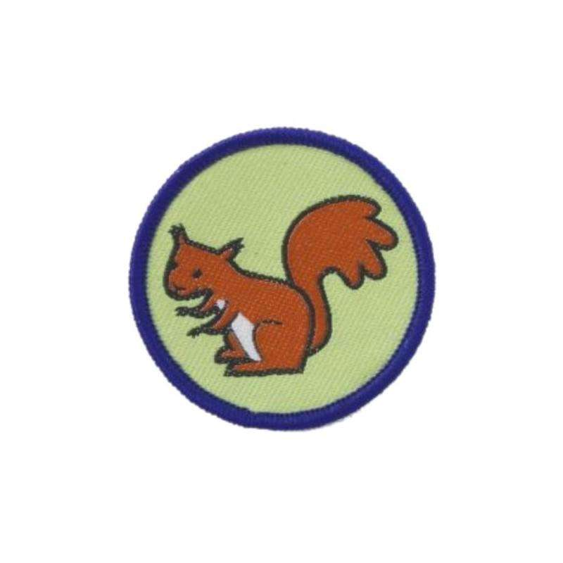 Squirrel Brownie Six Badge