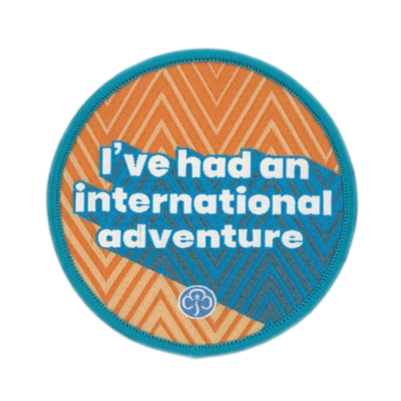Rangers I've had an international adventure badge