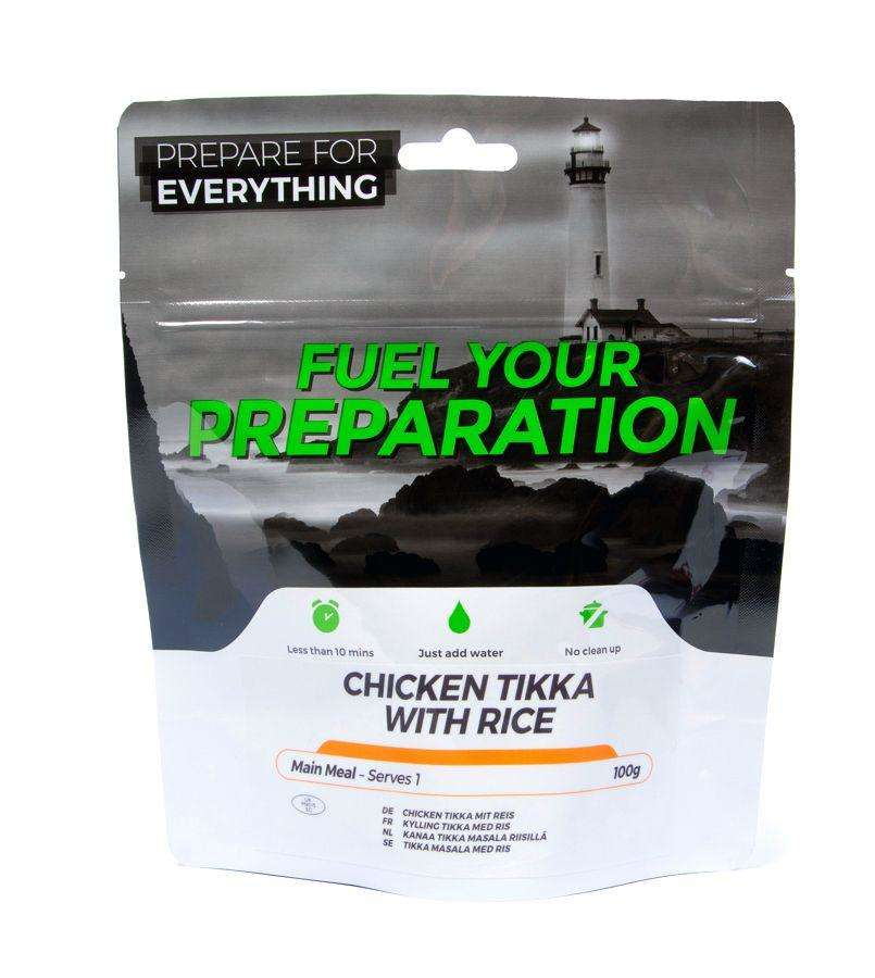 Fuel Your Preparation chicken tikka & rice camping outdoor meal