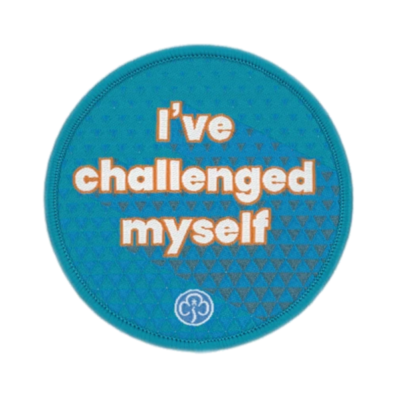 I've challenged myself woven badge Rangers