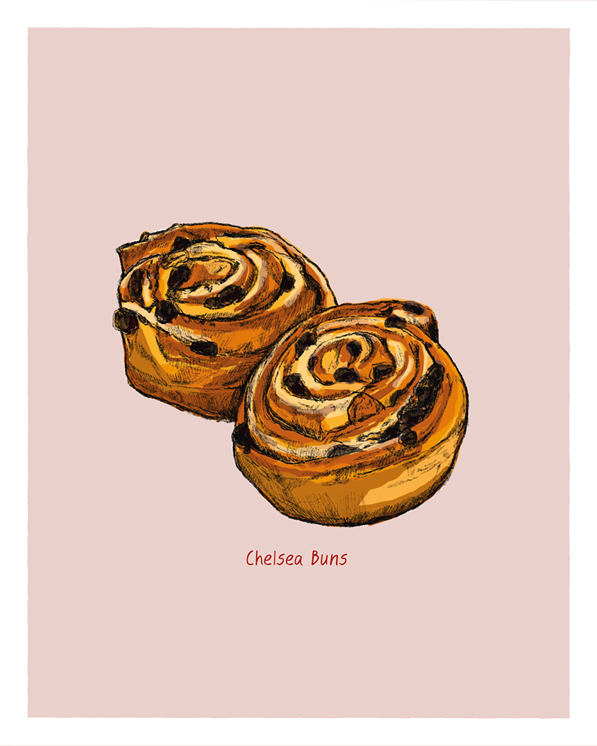 Chelsea print from the Great Bakes series by Tom Laird Illustration