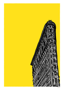 Flatiron building New York by Tom Laird Illustration