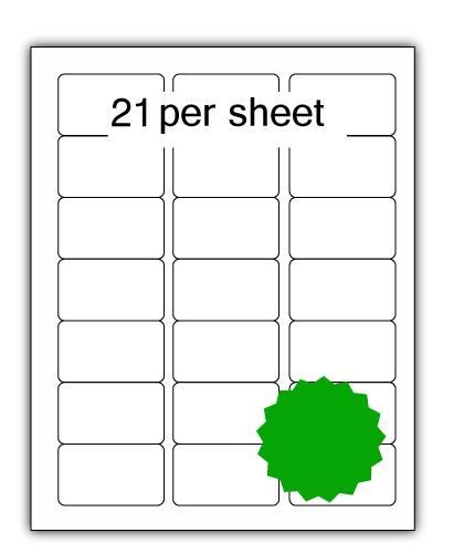 ULL21G - A4 Label Green 64x38.1mm 21 up (100 Sheets)
